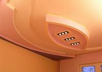 Установка многоуровневого потолка из гипсокартона.